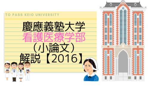 慶應義塾大学看護医療学部(小論文)|2016解説