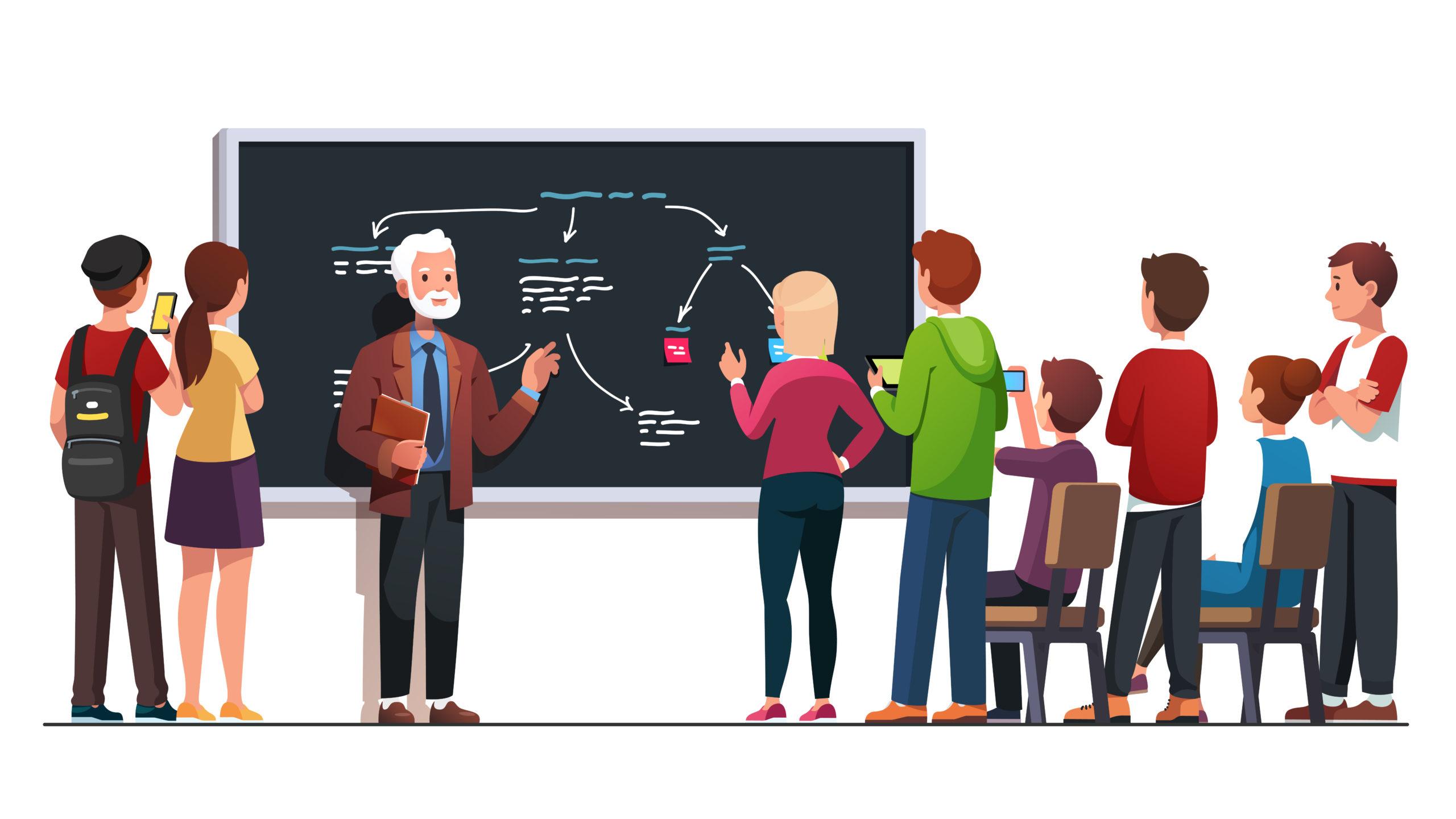 ・小論文指導に得意な先生と会話をする。