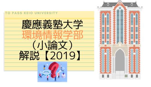 慶應義塾大学環境情報学部(小論文)|2019解説