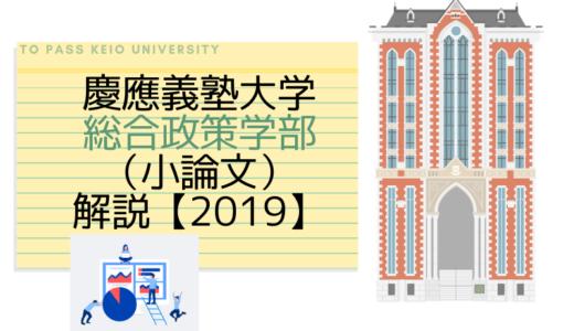 慶應義塾大学総合政策学部(小論文)|2019解説