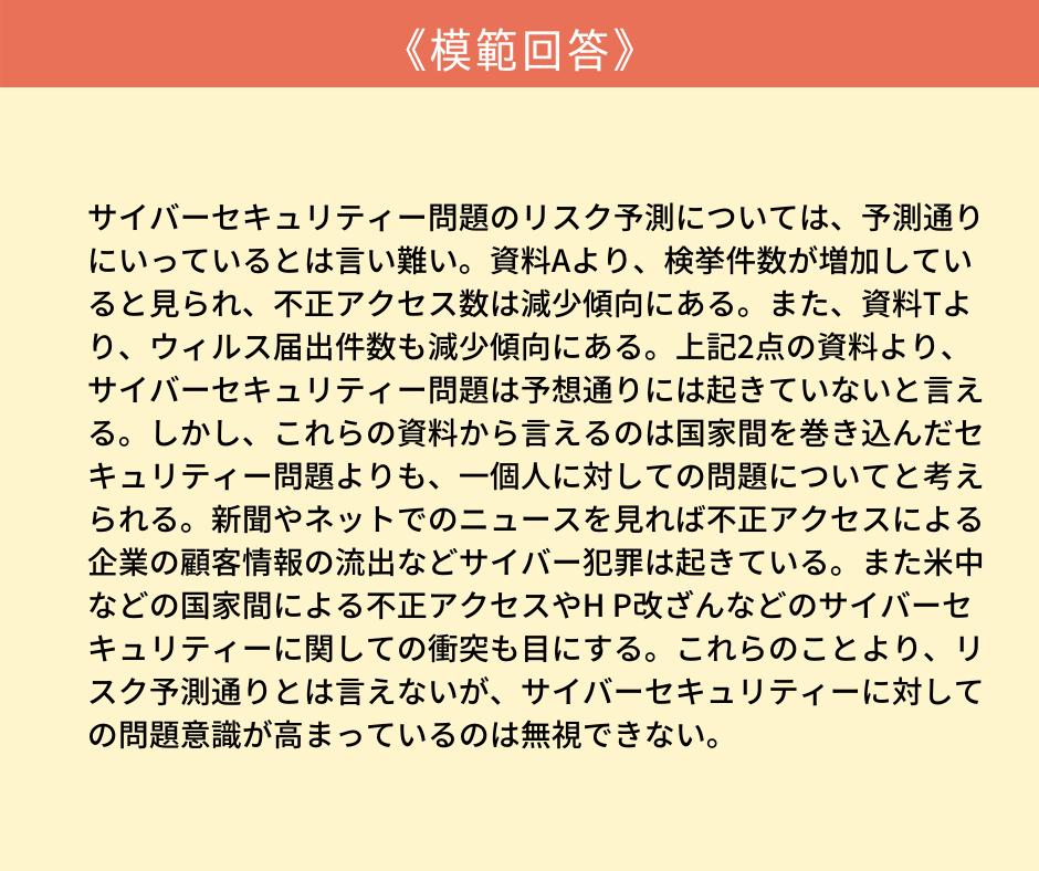 (小論文)慶應義塾大学総合政策2019設問2の模範回答