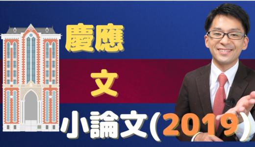【小論文】慶應文(2019)